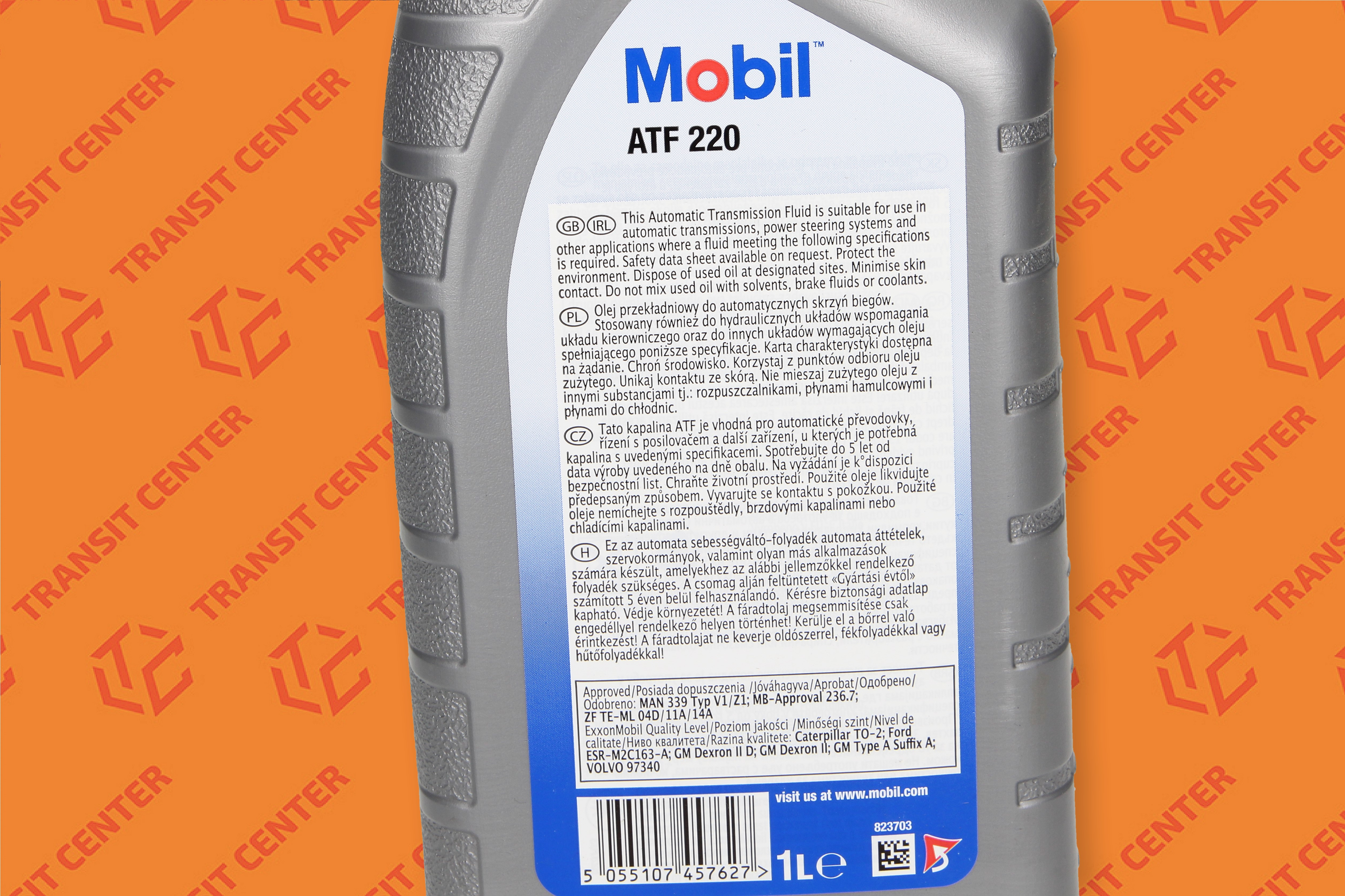 Power steering fluid Ford Transit red Mobil ATF 220