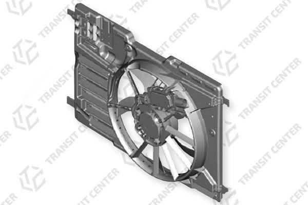 Radiator fan housing with fan Ford Transit Connect MK2 with air conditioning CV61-8C607-GF